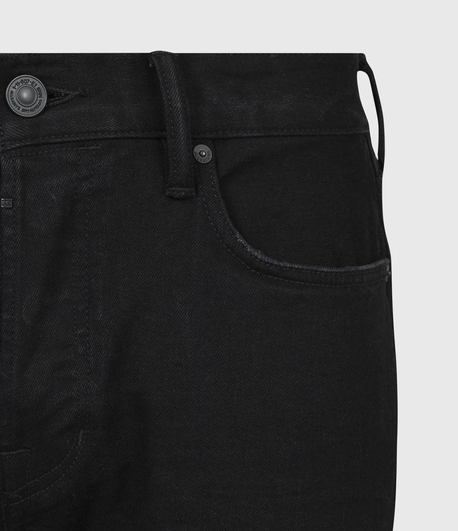 Mens Rex Slim Jeans, Black (black) - Image 5