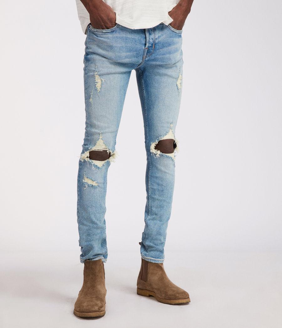 Men's Ichnaw Cigarette Skinny Jeans (indigo) - Image 1