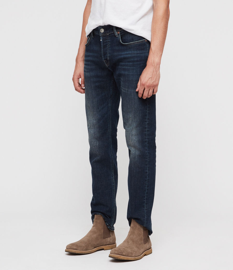 Men's Reed Straight Slim Jeans (indigo) - Image 1