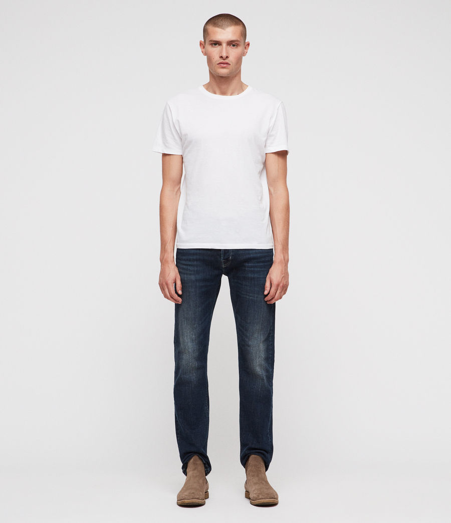 Men's Reed Straight Slim Jeans (indigo) - Image 3