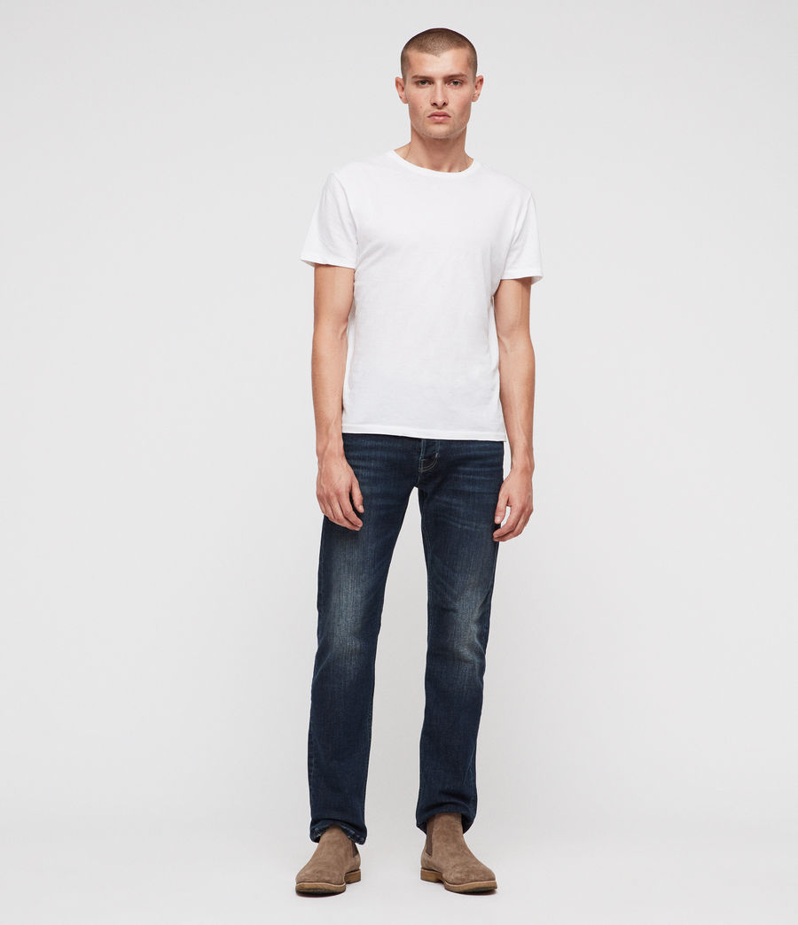 Men's Reed Straight Slim Jeans (indigo) - Image 4