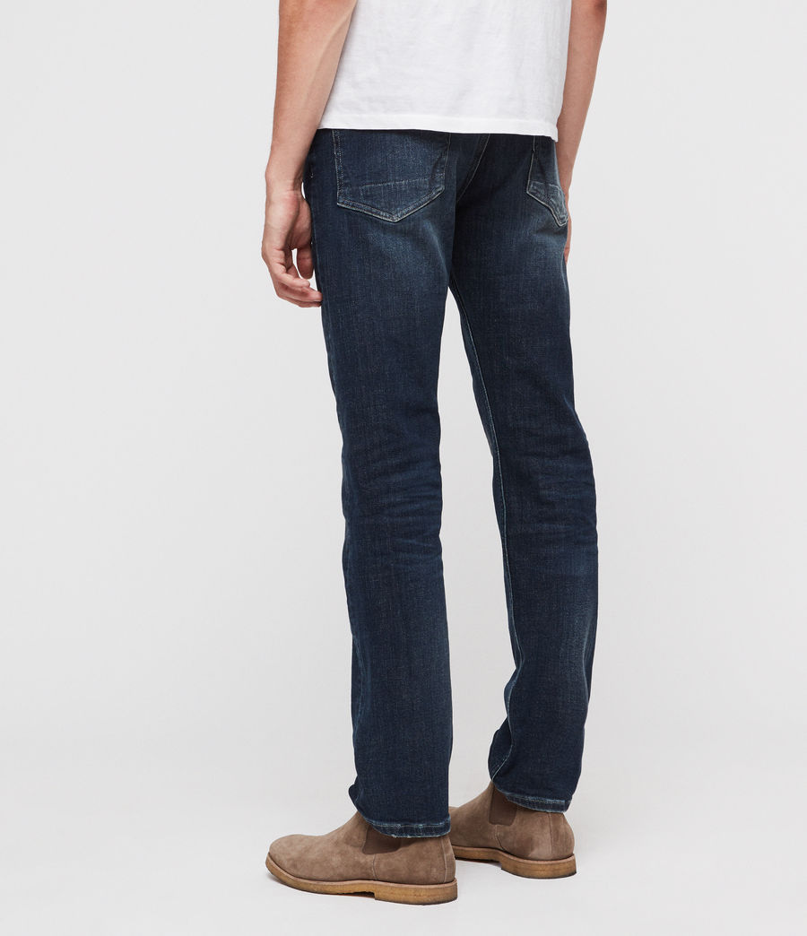 Mens Reed Straight Slim Jeans (indigo) - Image 5