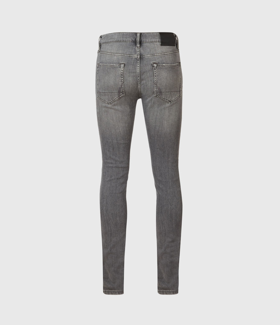 Uomo Cigarette Skinny Jeans, Mid Grey (mid_grey) - Image 2