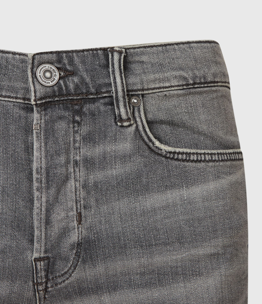 Uomo Cigarette Skinny Jeans, Mid Grey (mid_grey) - Image 3