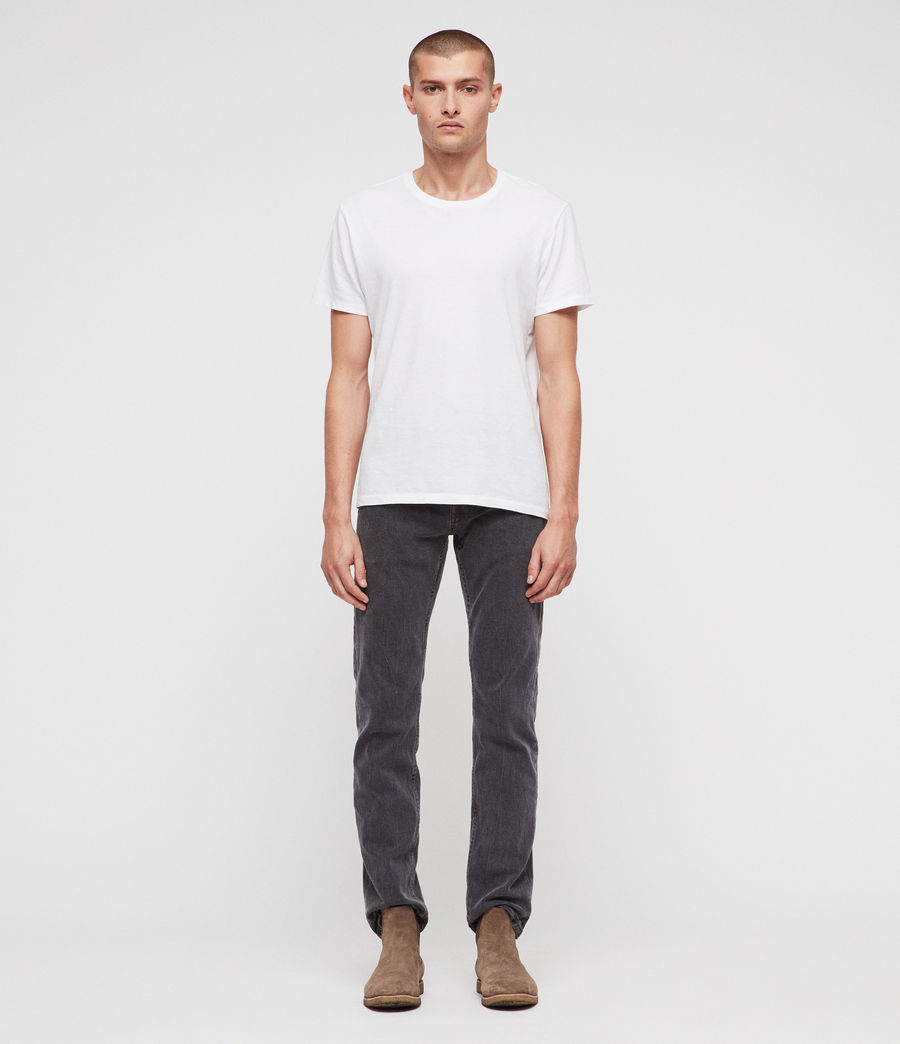 Hombres Reed Straight Slim Jeans (washed_black) - Image 3