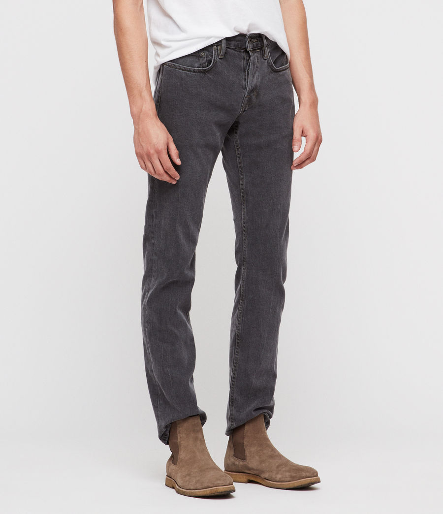 Hombres Reed Straight Slim Jeans (washed_black) - Image 4