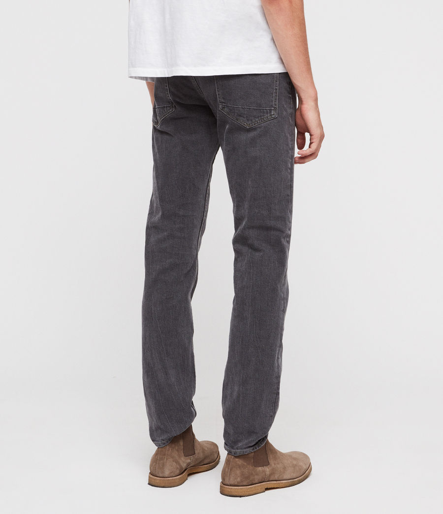 Hombres Reed Straight Slim Jeans (washed_black) - Image 5