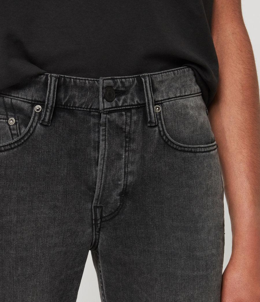 Mens Cigarette Skinny Jeans, Dark Grey (dark_grey) - Image 2