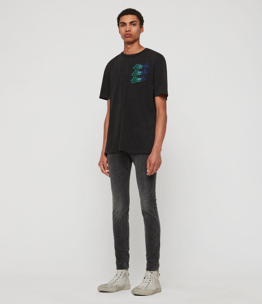 Mens Cigarette Skinny Jeans, Dark Grey (dark_grey) - Image 3