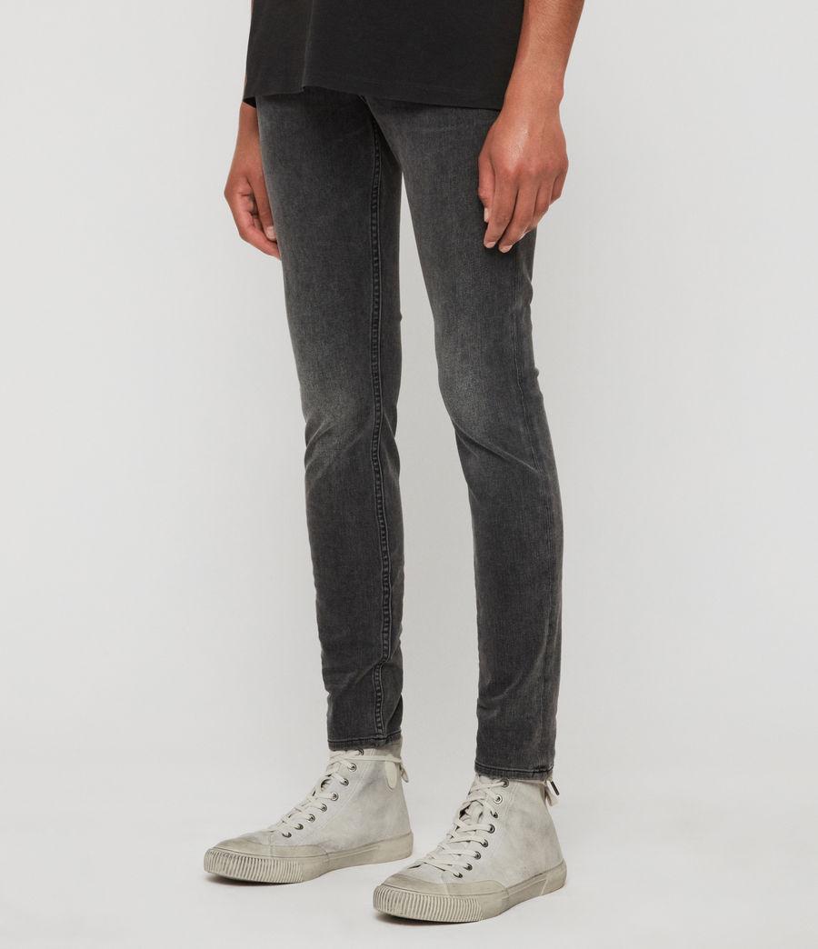 Men's Cigarette Skinny Jeans, Dark Grey (dark_grey) - Image 4