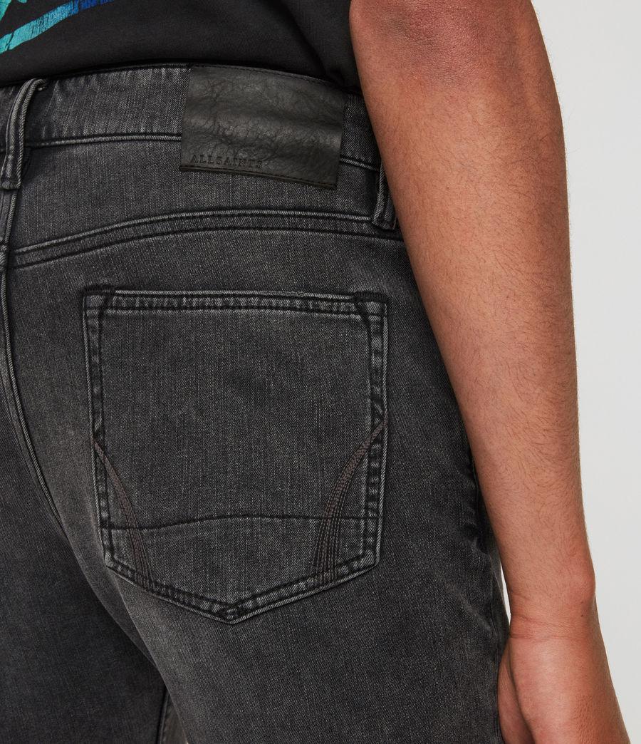 Mens Cigarette Skinny Jeans, Dark Grey (dark_grey) - Image 5