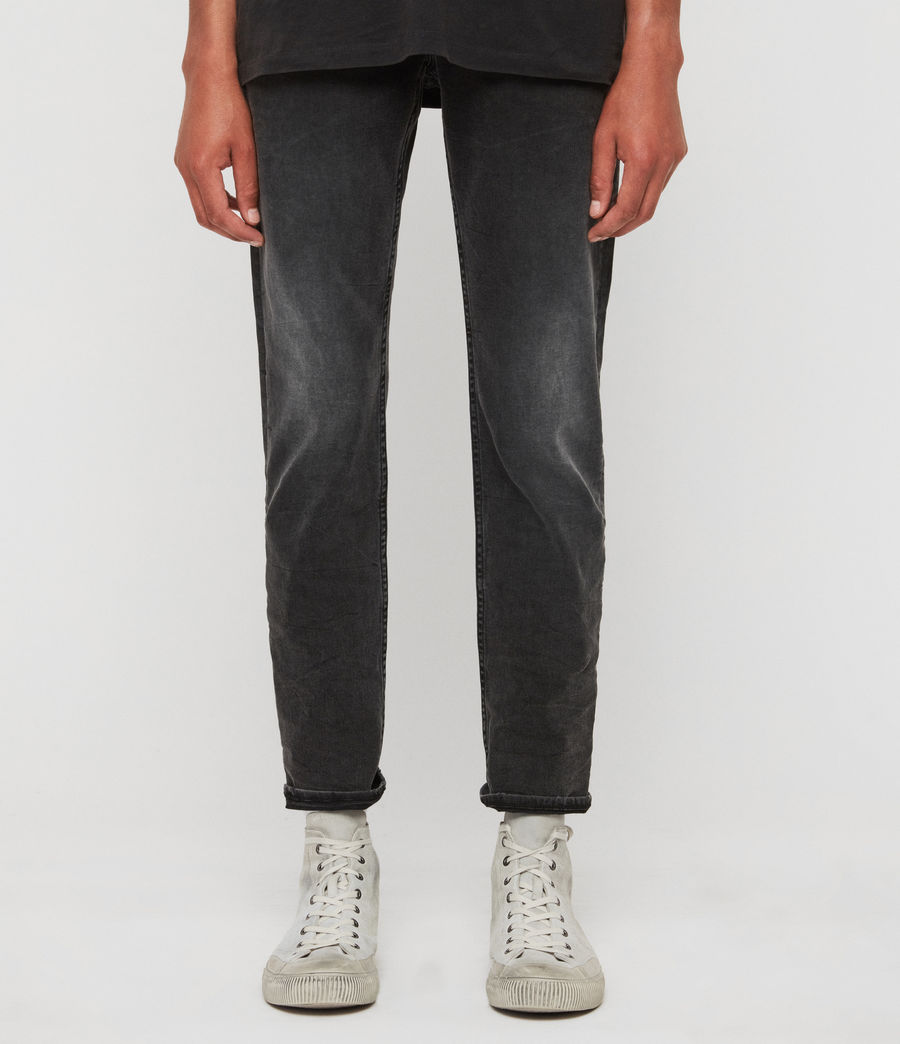 Men's Carter Straight Jeans, Washed Black (washed_black) - Image 1