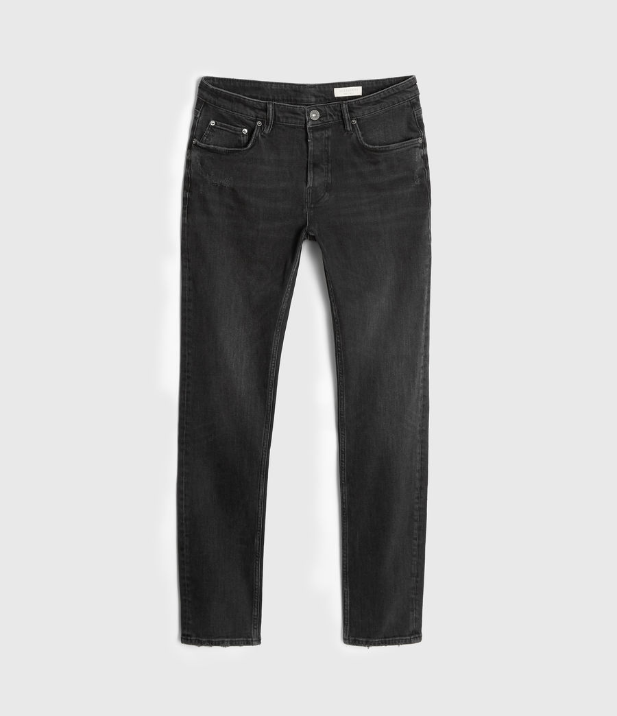Hombre Jeans Carter Straight, Negro lavado (washed_black) - Image 7