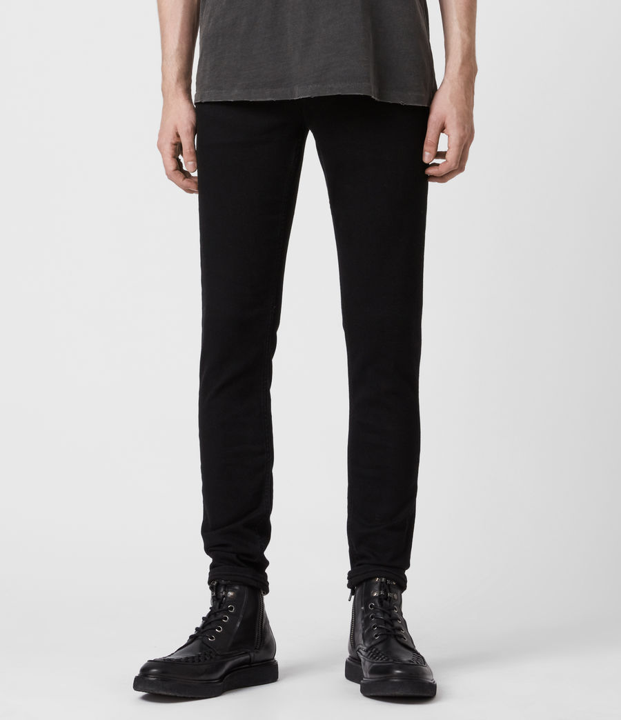 Herren Ronnie Extra Skinny Jeans, Pechschwarz (jet_black) - Image 1