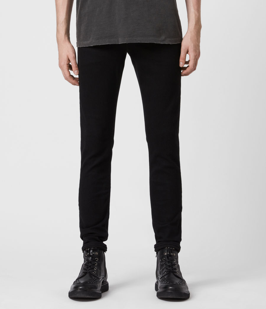 Herren Ronnie Extra Skinny Jeans, Pechschwarz (jet_black) - Image 4