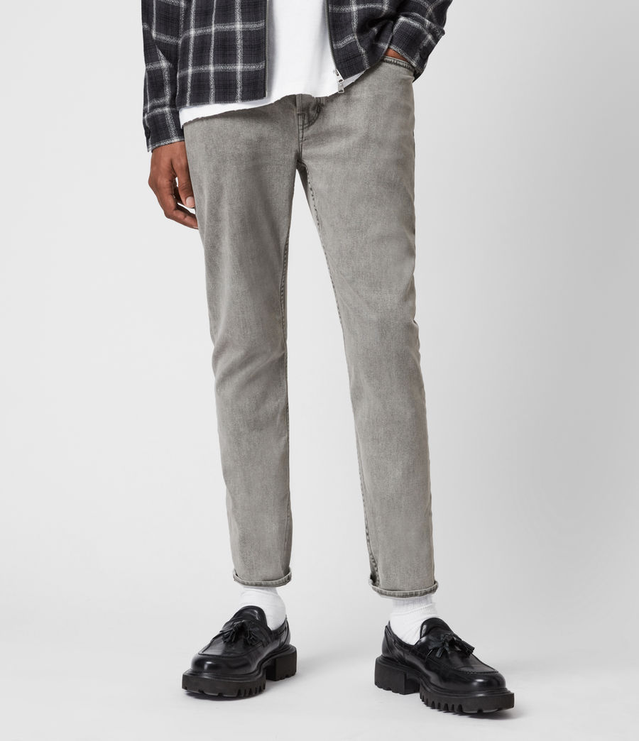 Herren Dean Cropped Slim Jeans, Grey (grey) - Image 1