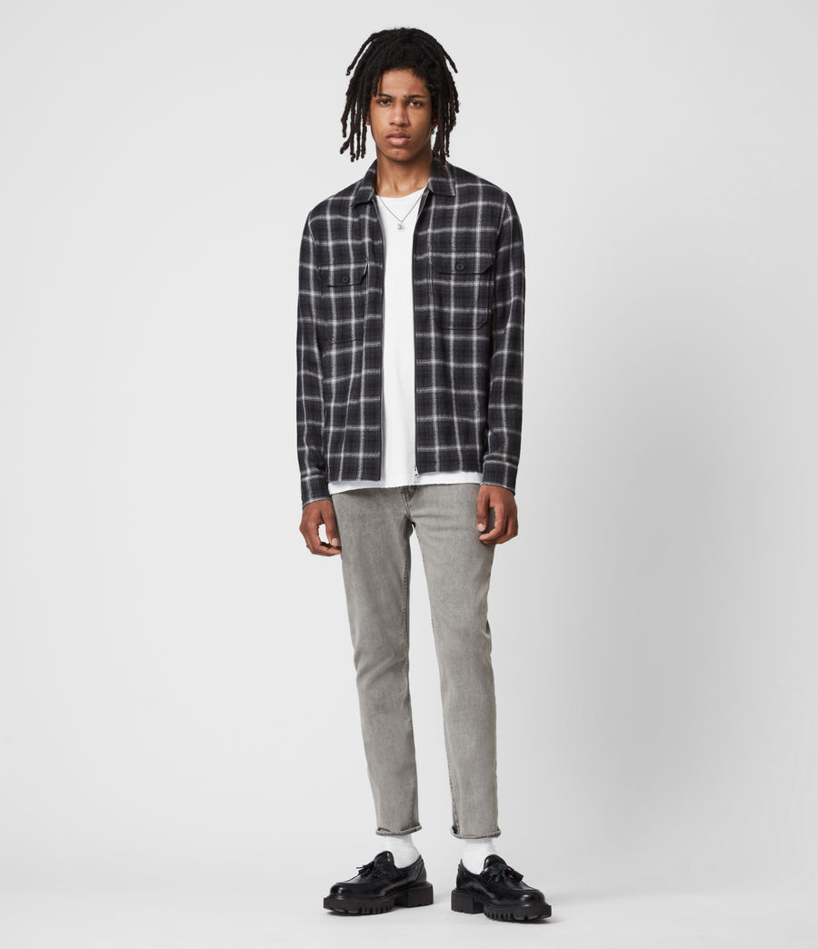 Herren Dean Cropped Slim Jeans, Grey (grey) - Image 4