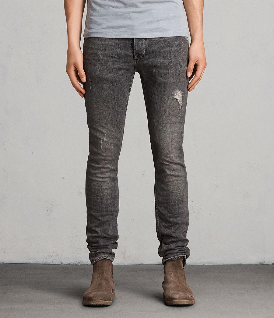 Men's Raveline Cigarette Skinny Jeans (dark_grey) - Image 1