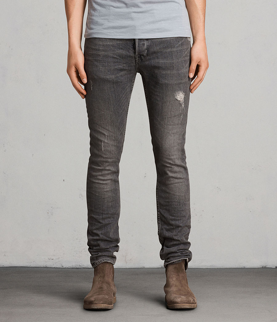 Mens Raveline Cigarette Skinny Jeans (dark_grey) - Image 1