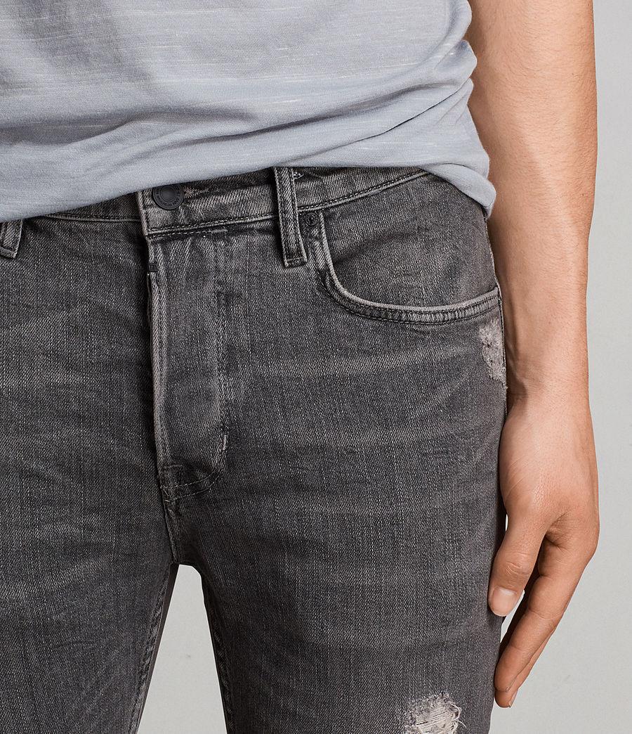 Mens Raveline Cigarette Skinny Jeans (dark_grey) - Image 2