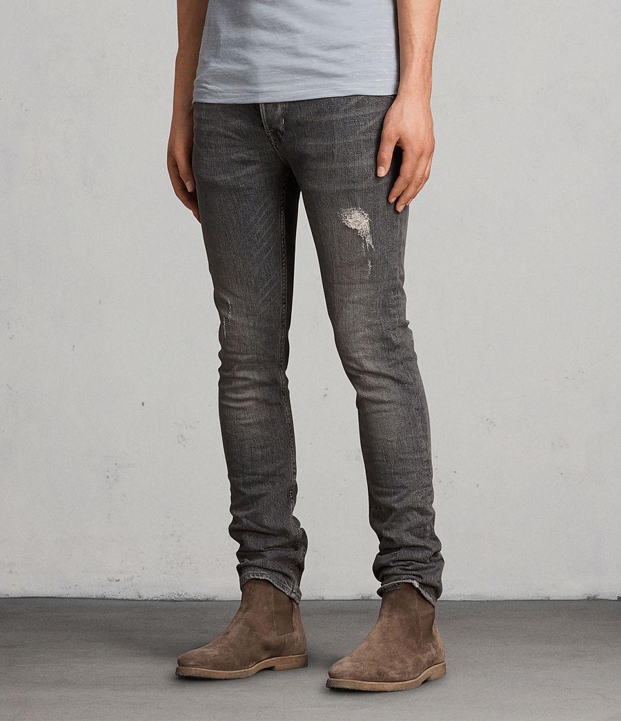 Mens Raveline Cigarette Skinny Jeans (dark_grey) - Image 3