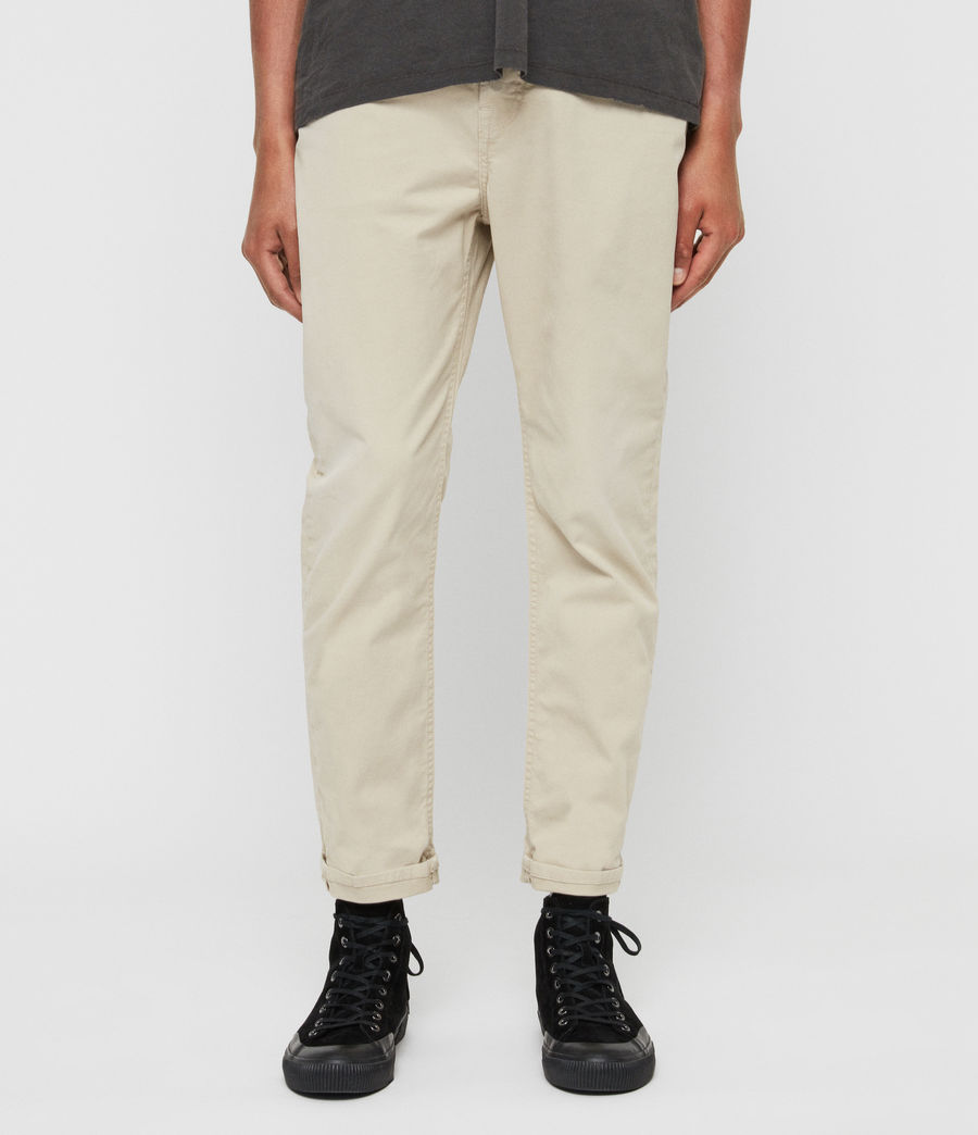 Men's Ridge Twill Tapered Jeans, Barley Taupe (barley_taupe) - Image 1