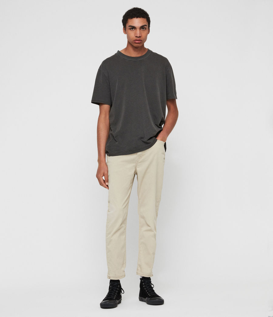 Men's Ridge Twill Tapered Jeans, Barley Taupe (barley_taupe) - Image 3