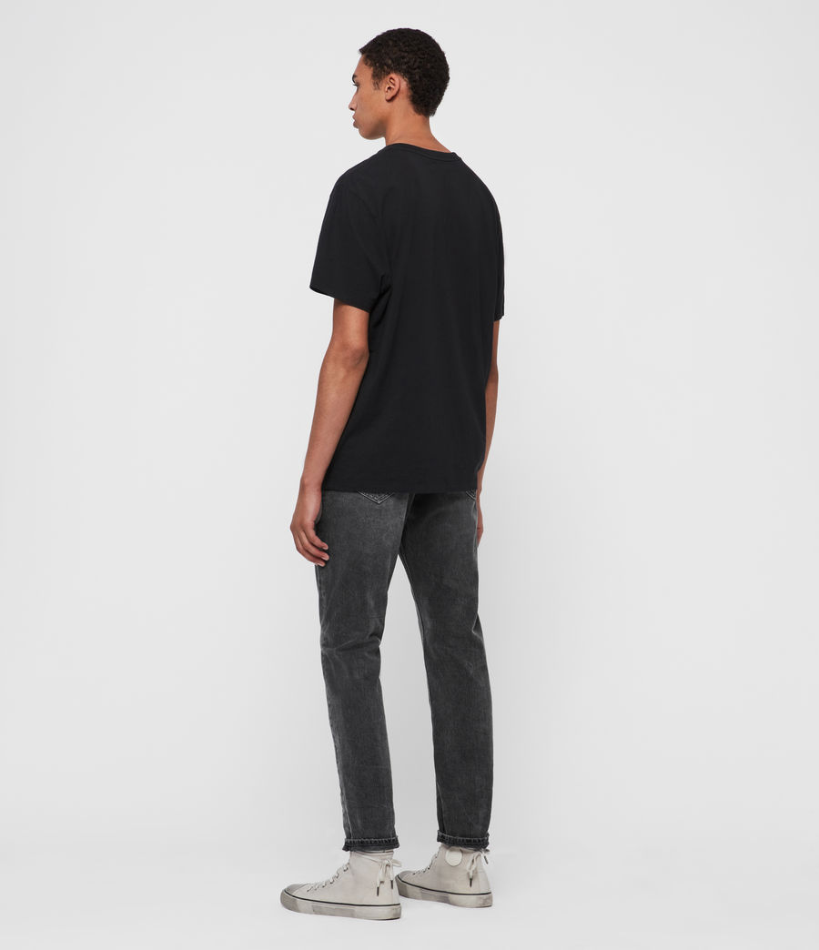 Men's Ridge Tapered Jeans, Washed Black (washed_black) - Image 3