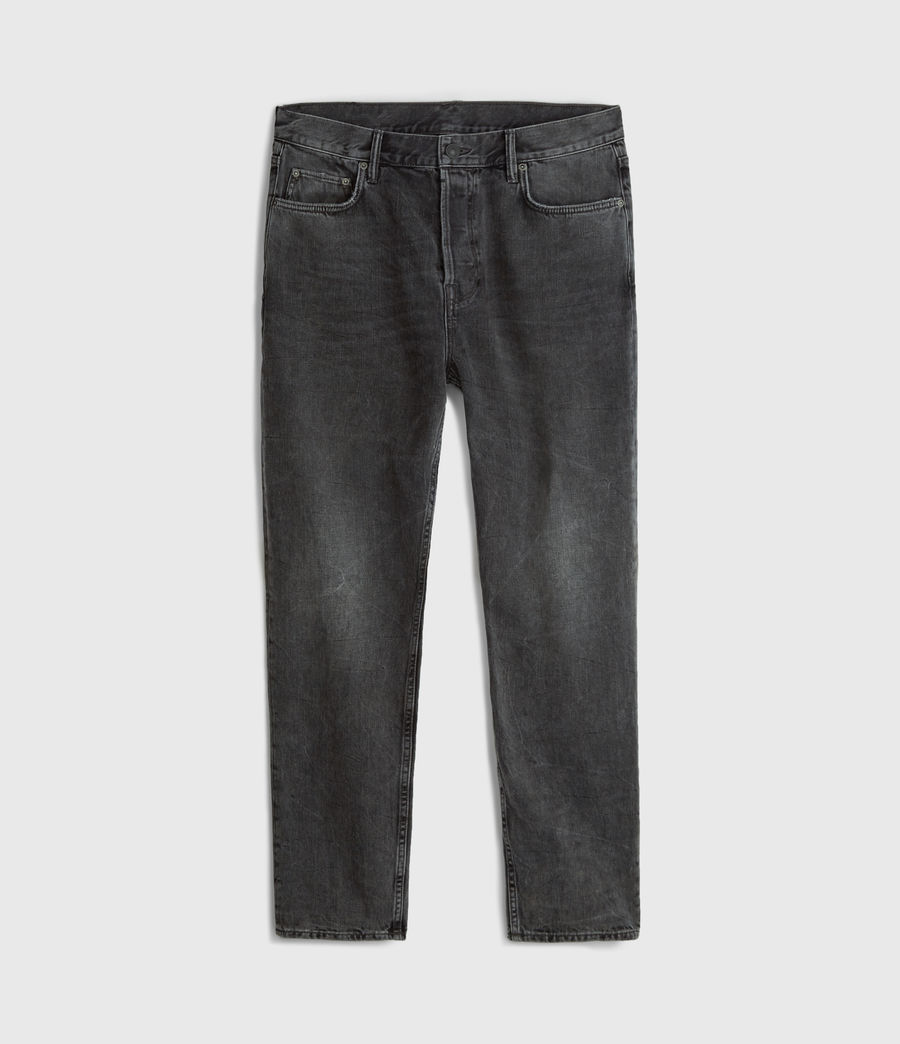 Mens Ridge Tapered Jeans, Washed Black (washed_black) - Image 6