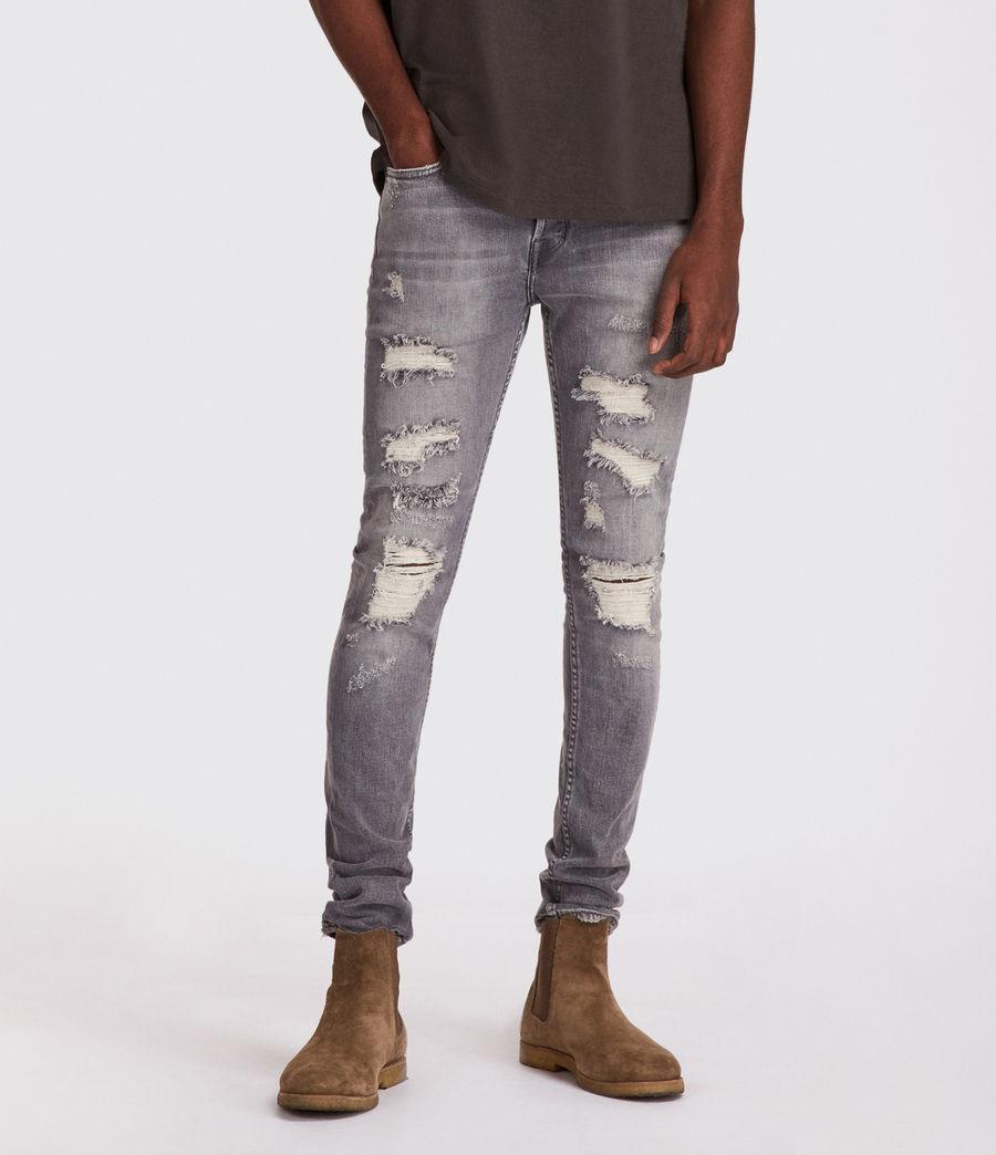 Mens Grays Cigarette Skinny Jeans (grey) - Image 1