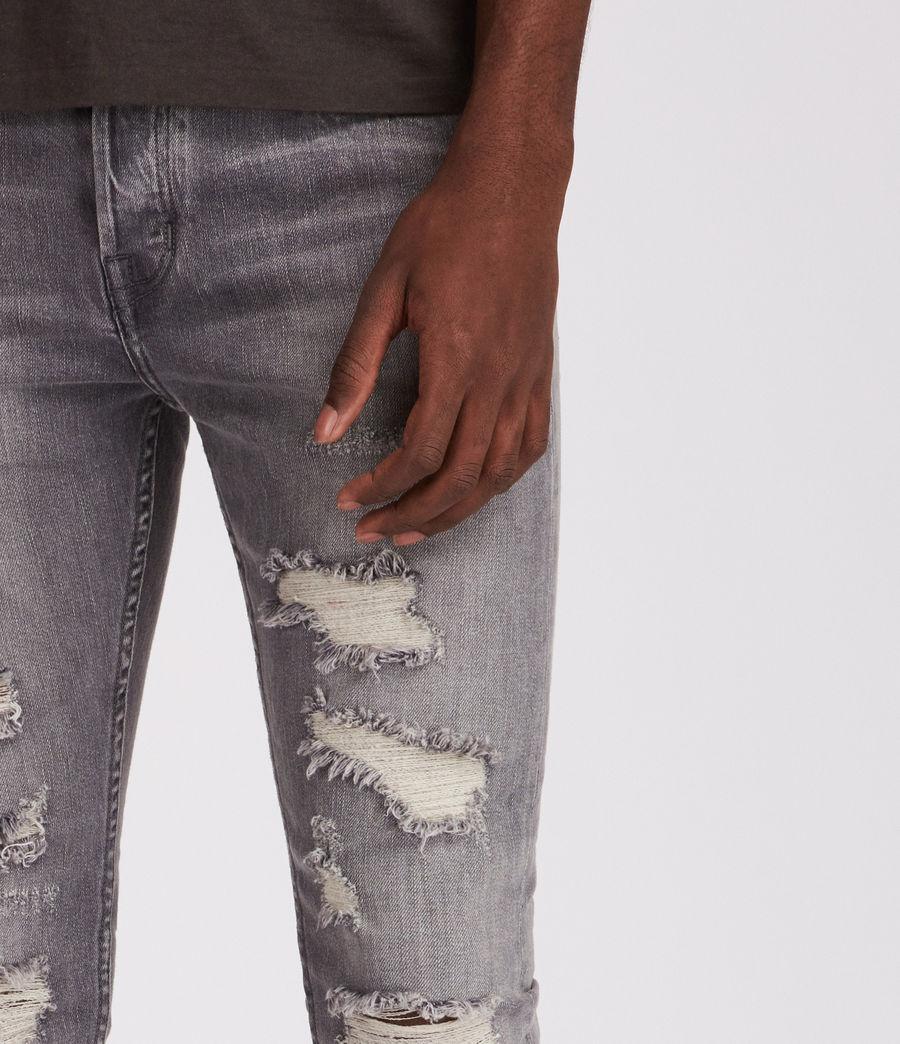 Mens Grays Cigarette Skinny Jeans (grey) - Image 3