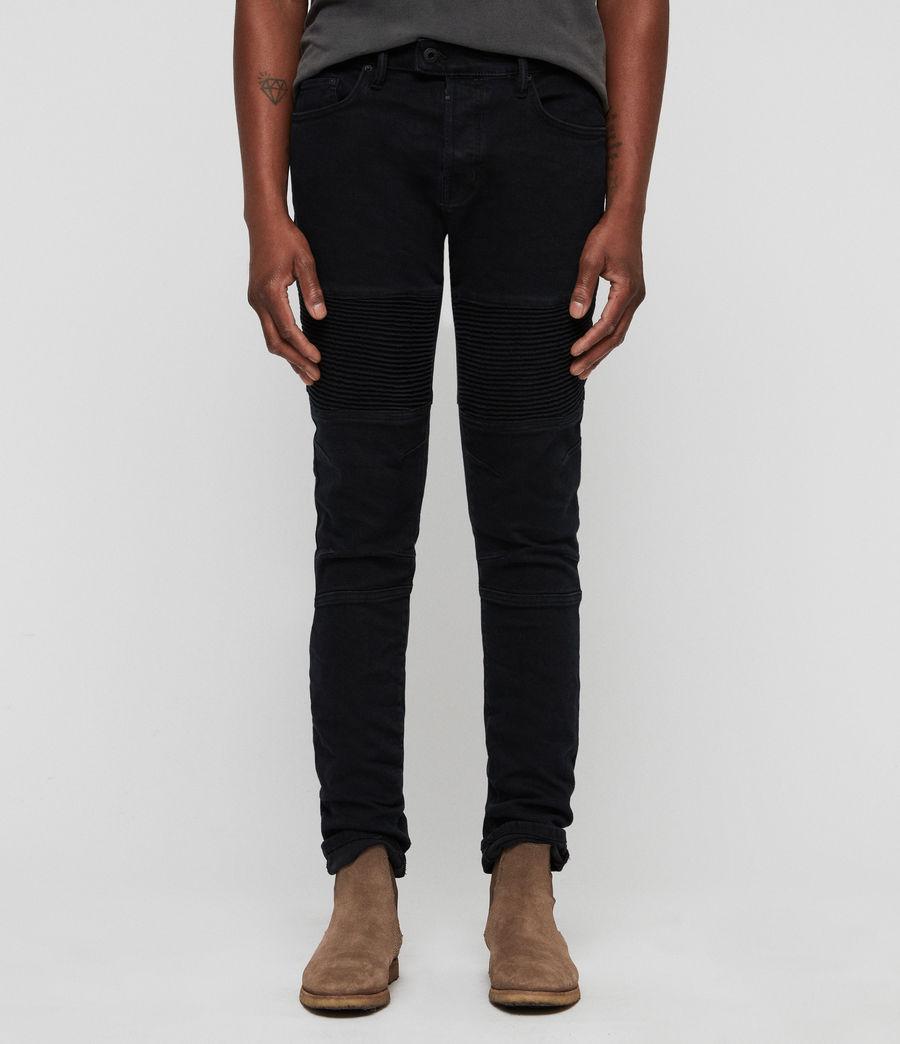 Herren Biker Skinny Jeans (black) - Image 1