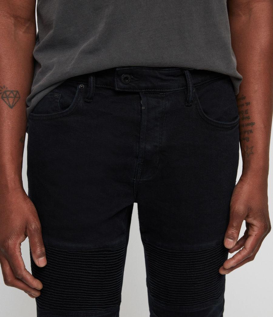 Mens Biker Skinny Jeans (black) - Image 2