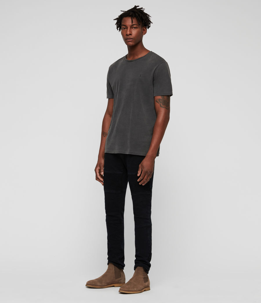 Herren Biker Skinny Jeans (black) - Image 3