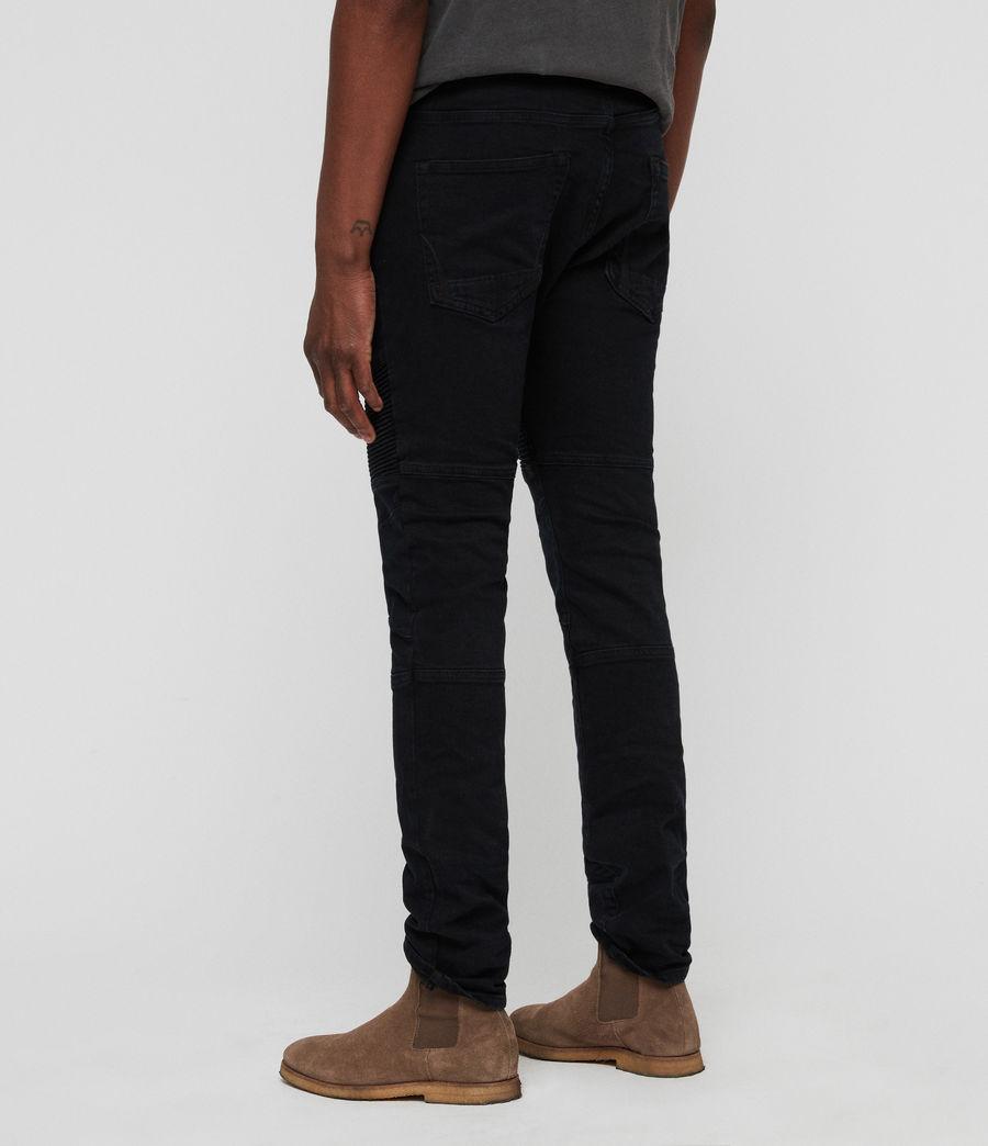 Mens Biker Skinny Jeans (black) - Image 5