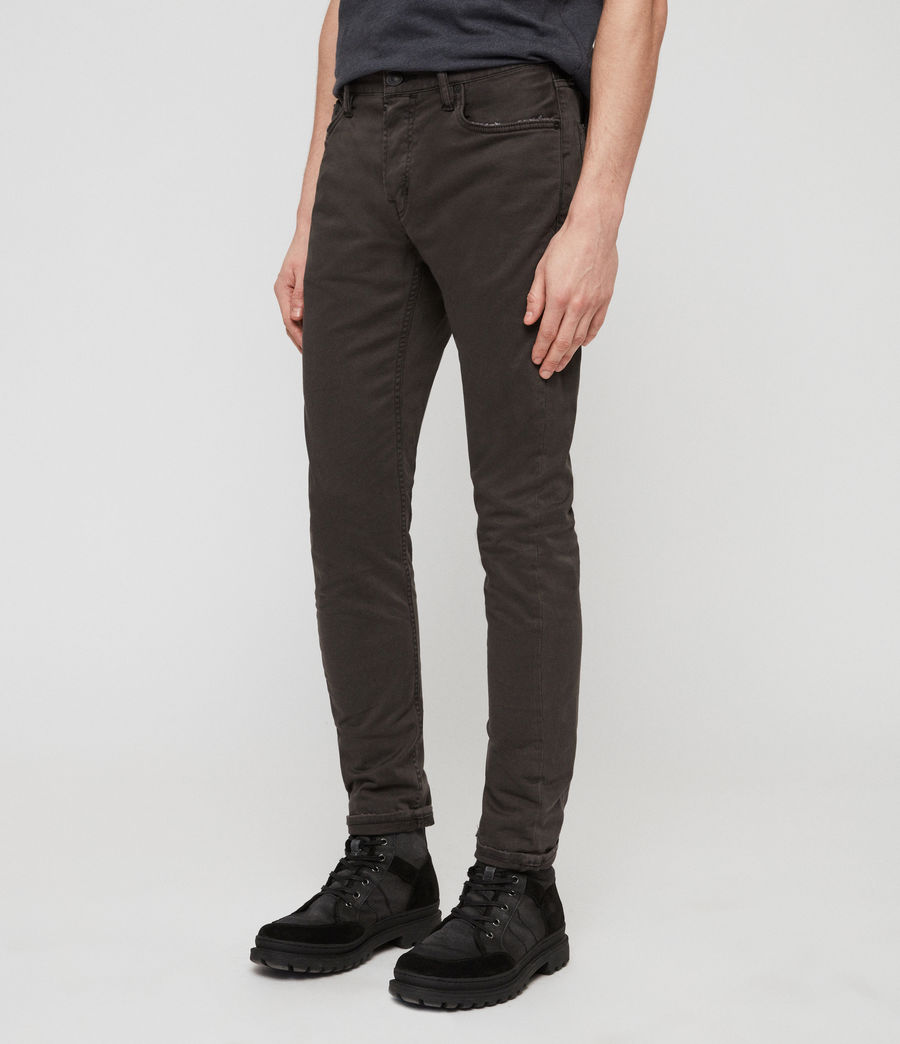 Mens Rex Twill Skinny Jeans (pewter) - Image 1