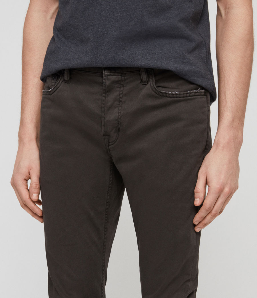 Mens Rex Twill Skinny Jeans (pewter) - Image 2