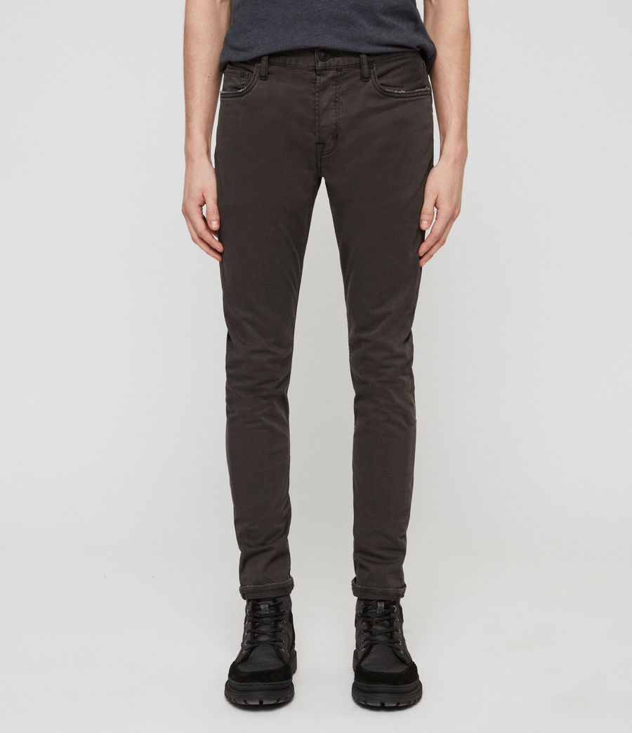 Mens Rex Twill Skinny Jeans (pewter) - Image 4