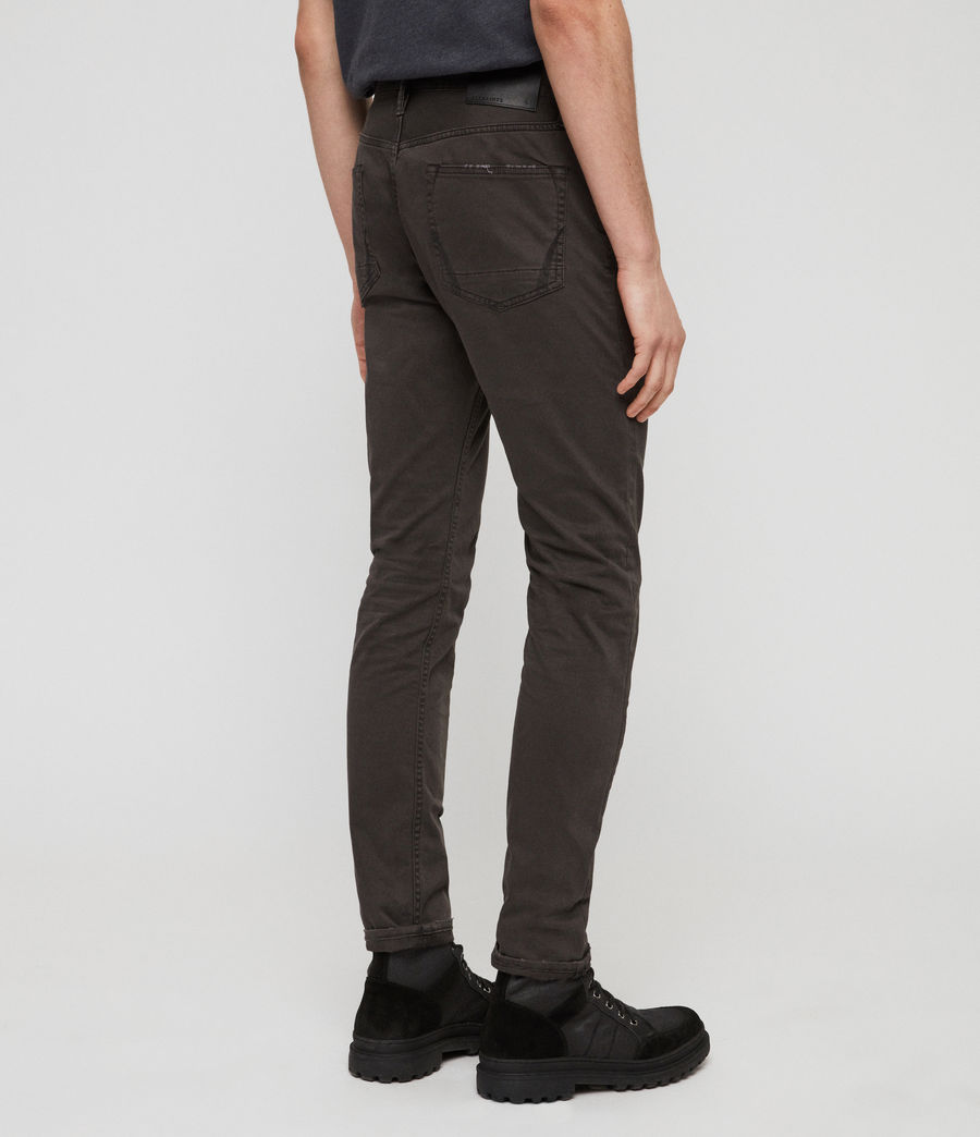 Mens Rex Twill Skinny Jeans (pewter) - Image 5