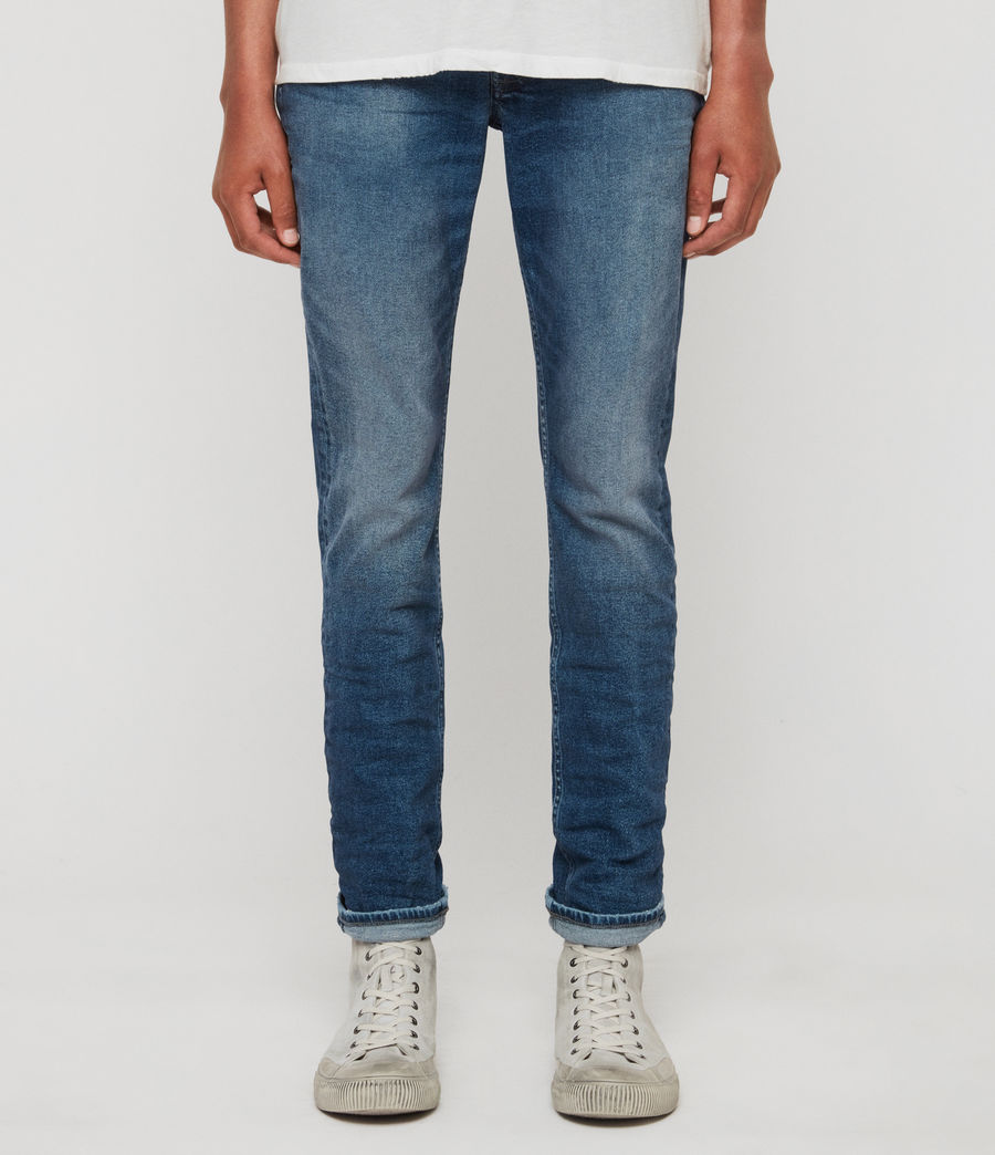 Men's Rex Slim Jeans, Light Indigo Blue (light_indigo_blue) - Image 1