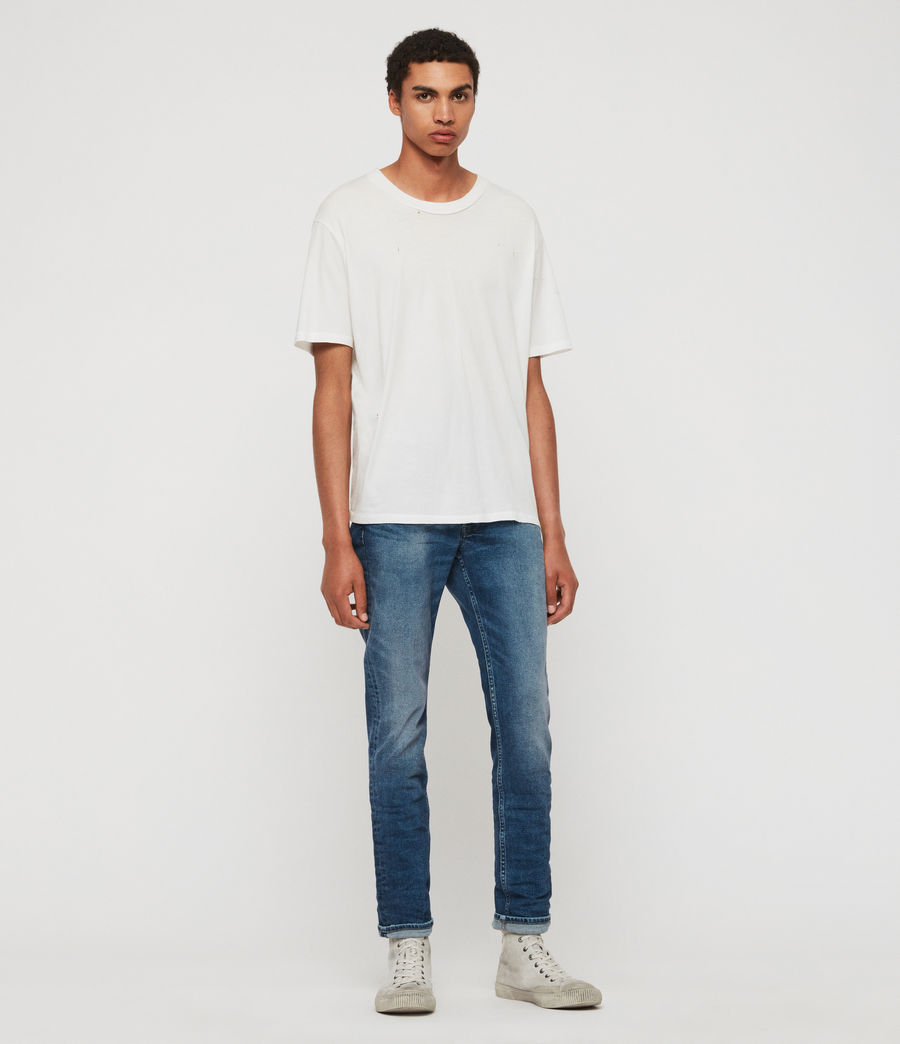 Mens Rex Slim Jeans, Light Indigo Blue (light_indigo_blue) - Image 3