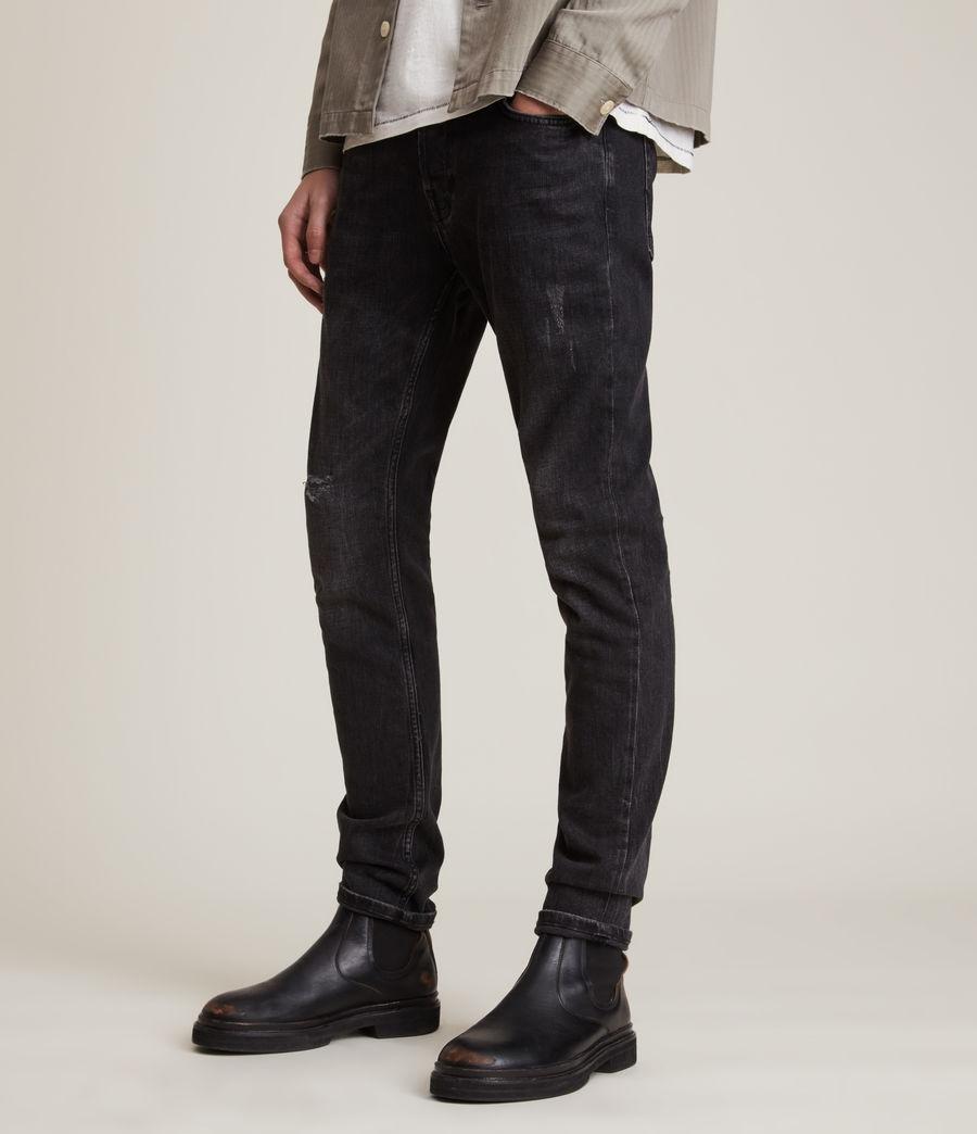 Mens Rex Slim Jeans, Washed Black (washed_black) - Image 1