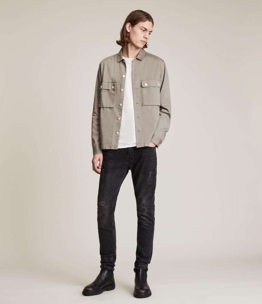Mens Rex Slim Jeans, Washed Black (washed_black) - Image 2