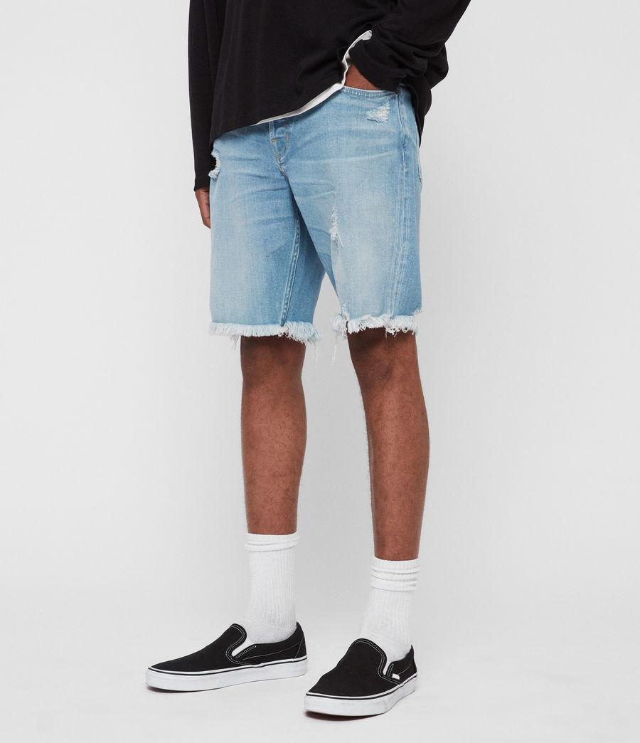 Men's Switch Damaged Denim Shorts (indigo_blue) - Image 2