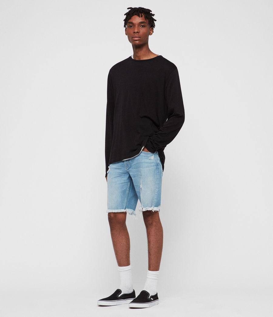 Men's Switch Damaged Denim Shorts (indigo_blue) - Image 3