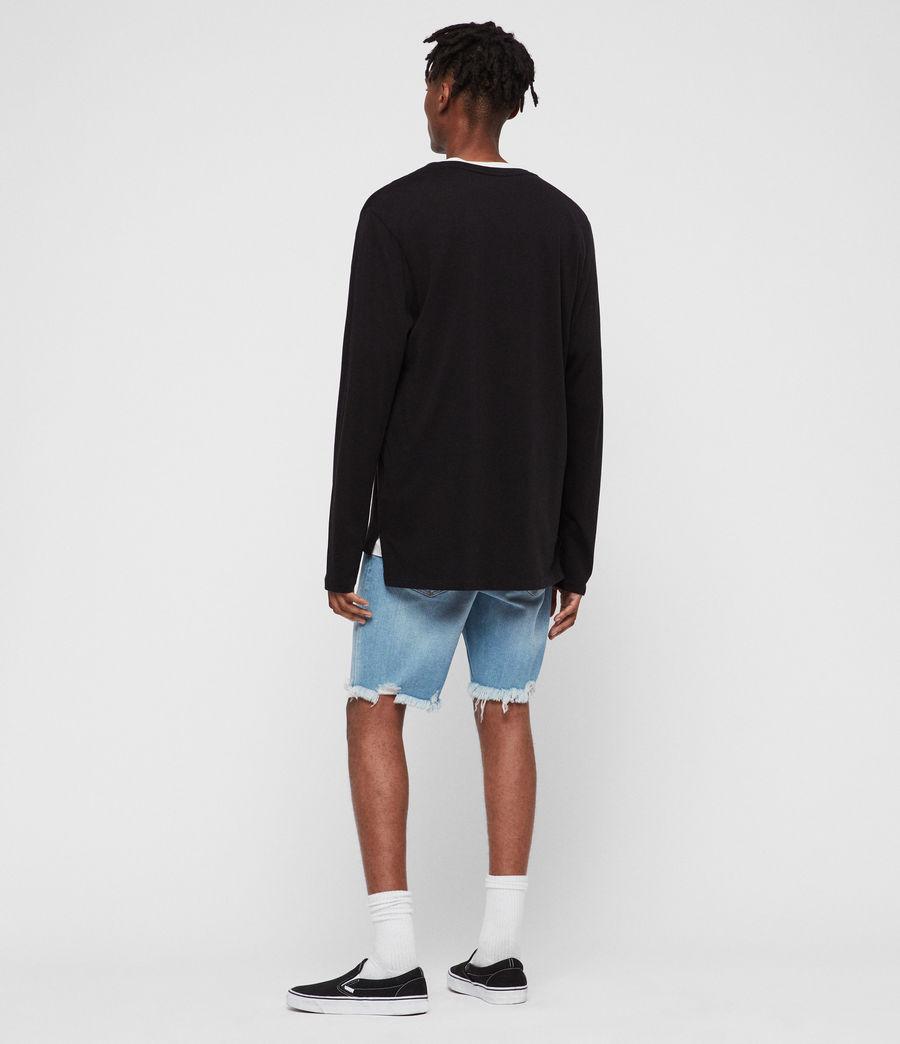 Men's Switch Damaged Denim Shorts (indigo_blue) - Image 4