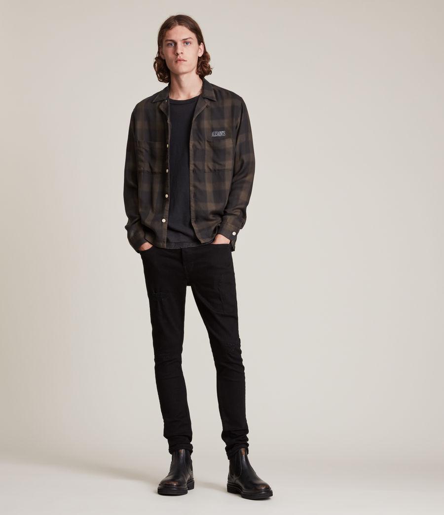 Herren Cigarette Damaged Skinny Jeans, Black (black) - Image 2
