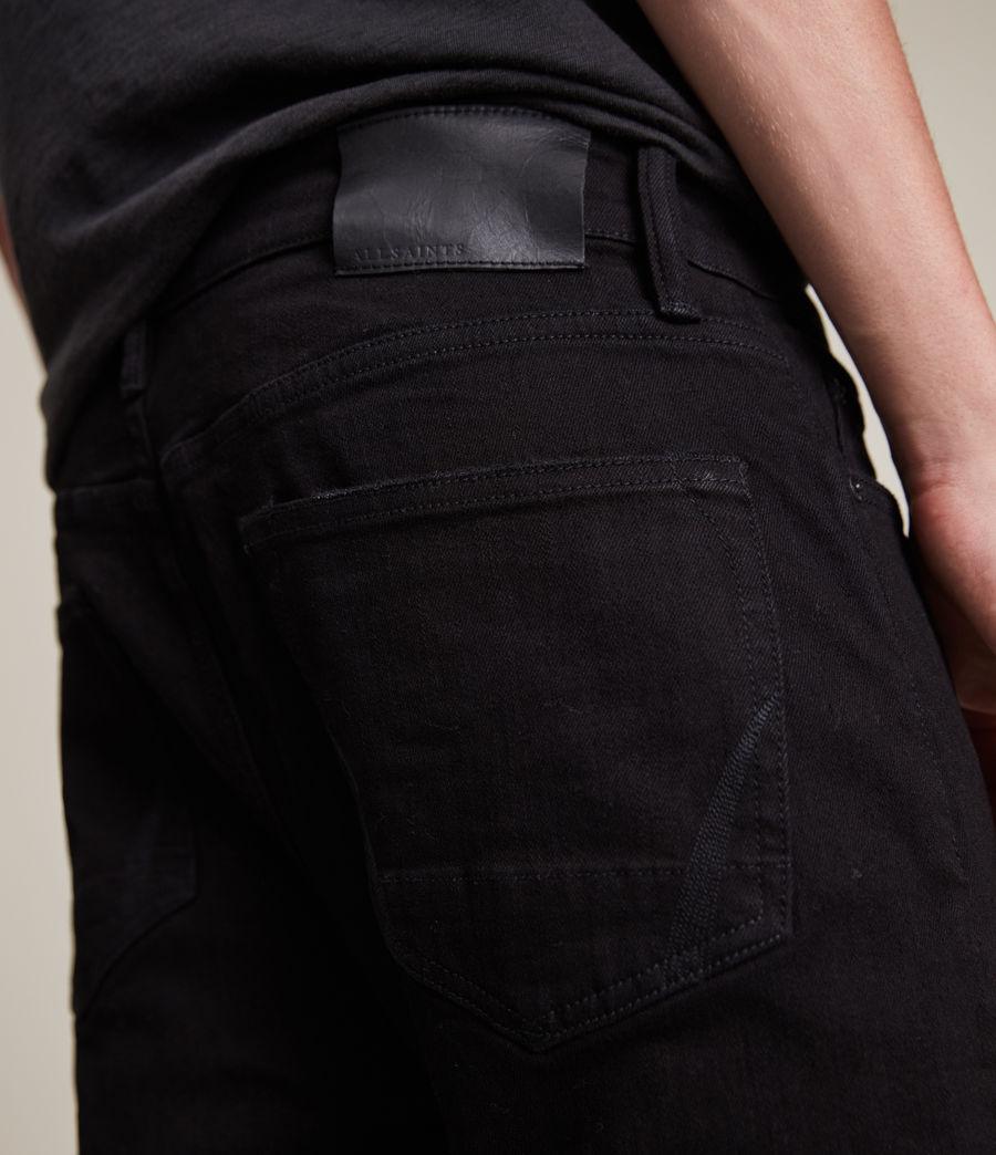 Herren Cigarette Damaged Skinny Jeans, Black (black) - Image 3