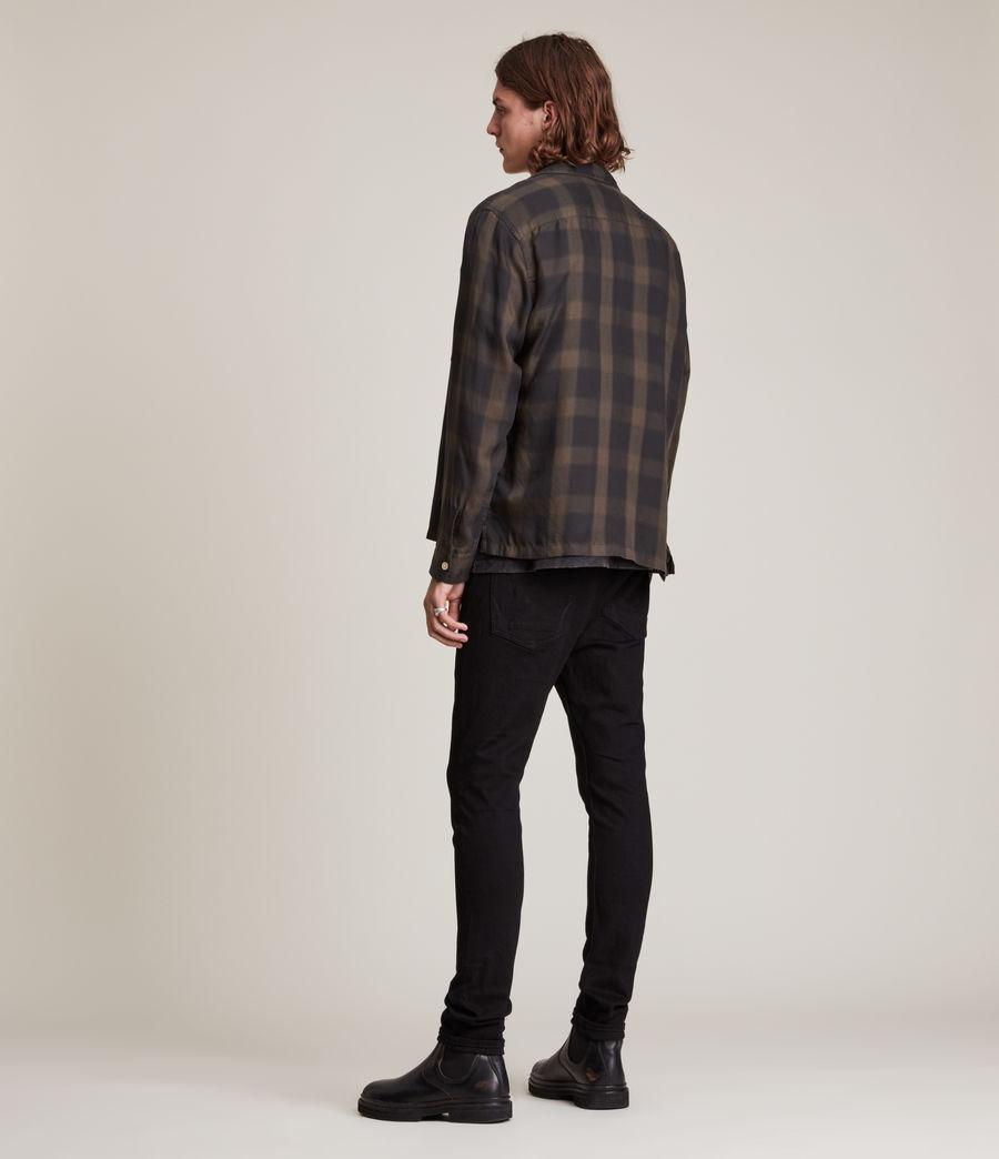 Herren Cigarette Damaged Skinny Jeans, Black (black) - Image 4