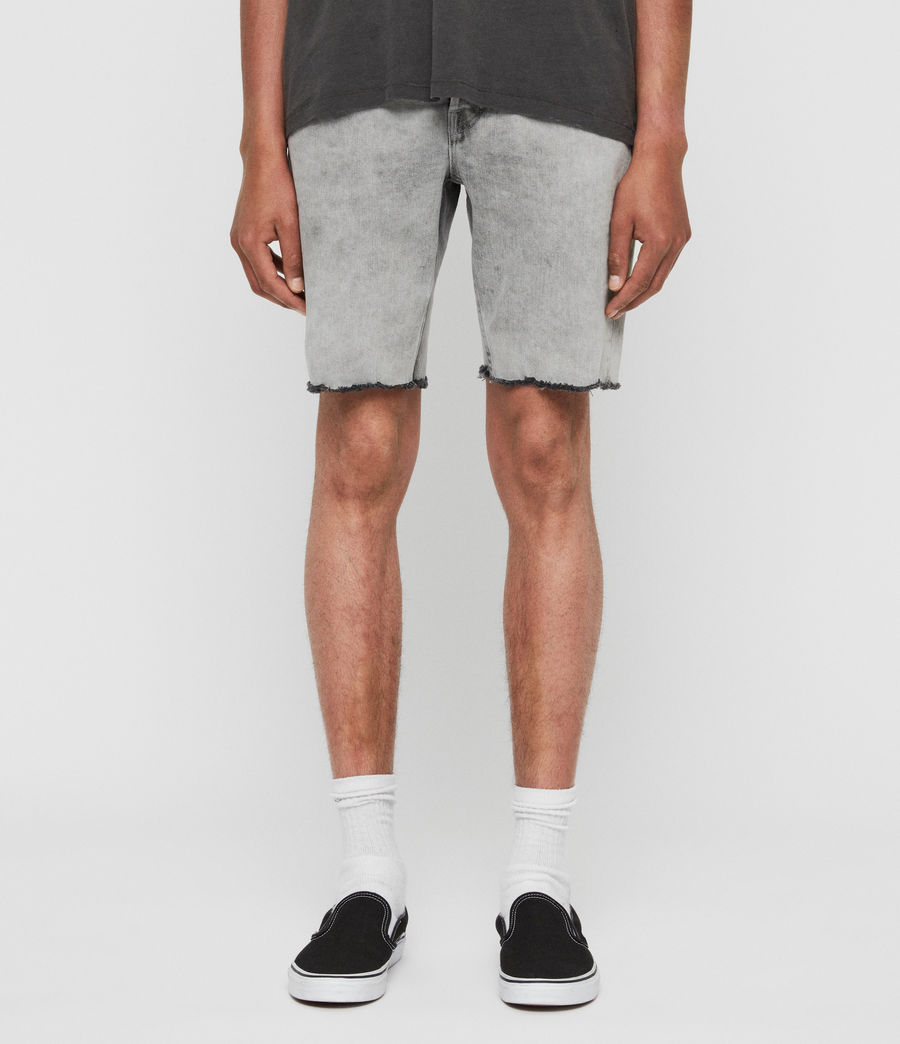 Mens Switch Denim Shorts (grey) - Image 1